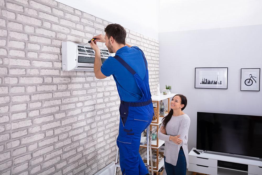 repairing air conditioning