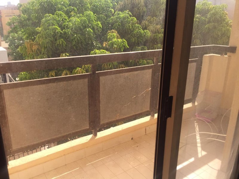 balcony brown railings
