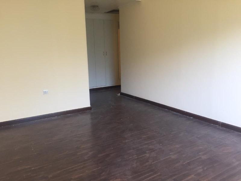 empty room with wardrobe