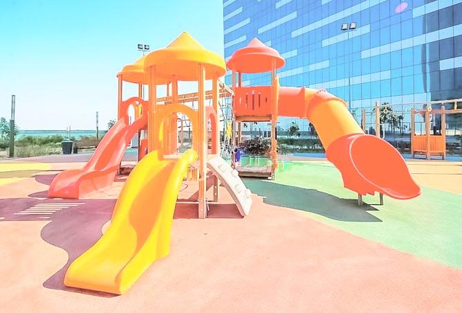 gate tower outside park for kids