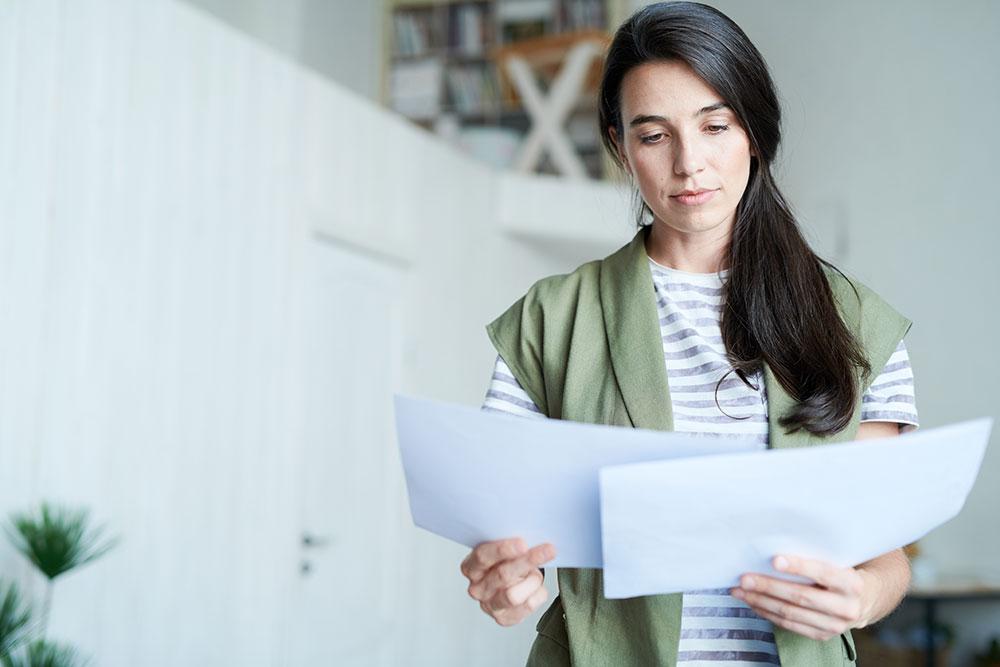 landlord analyzing budget