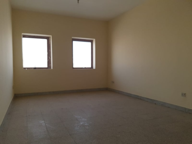 large room two windows