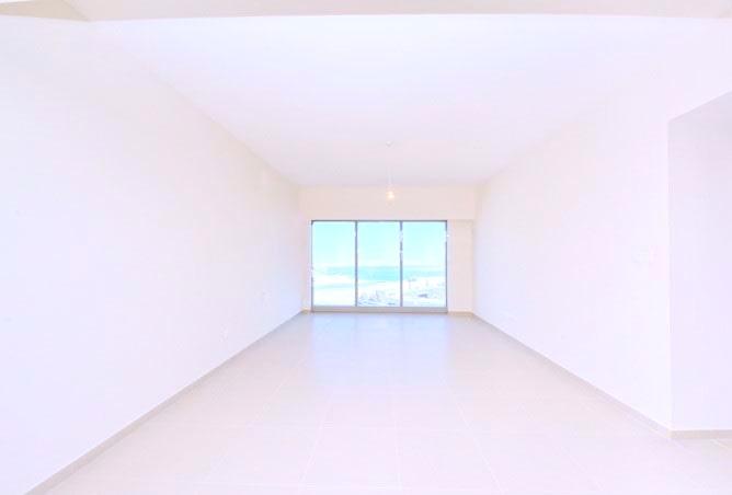 long empty white room