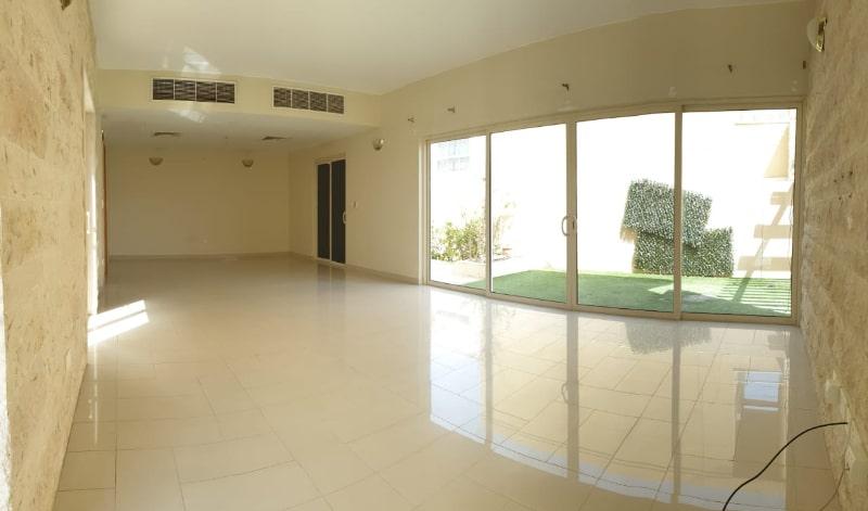 panoramic empty room