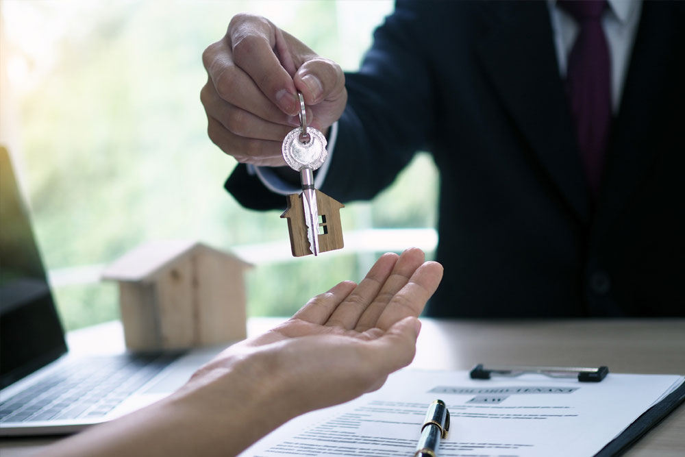 handing over the keys for a property